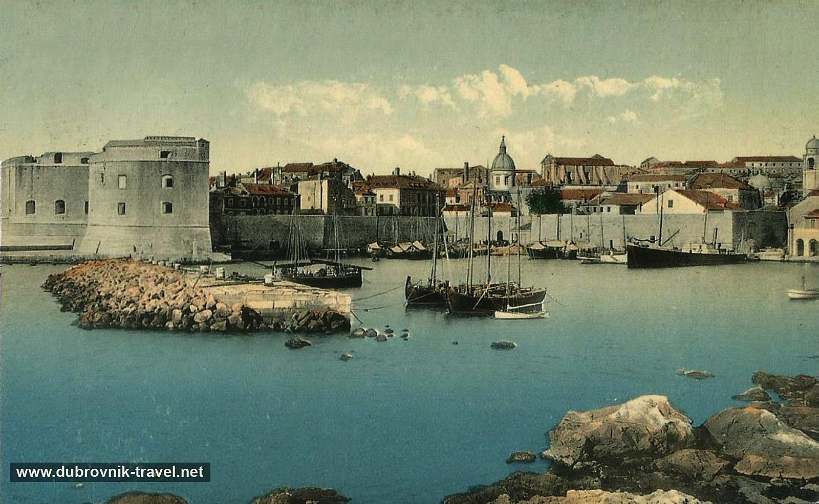 Old Town Port Panorama (Dubrovnik 1910)
