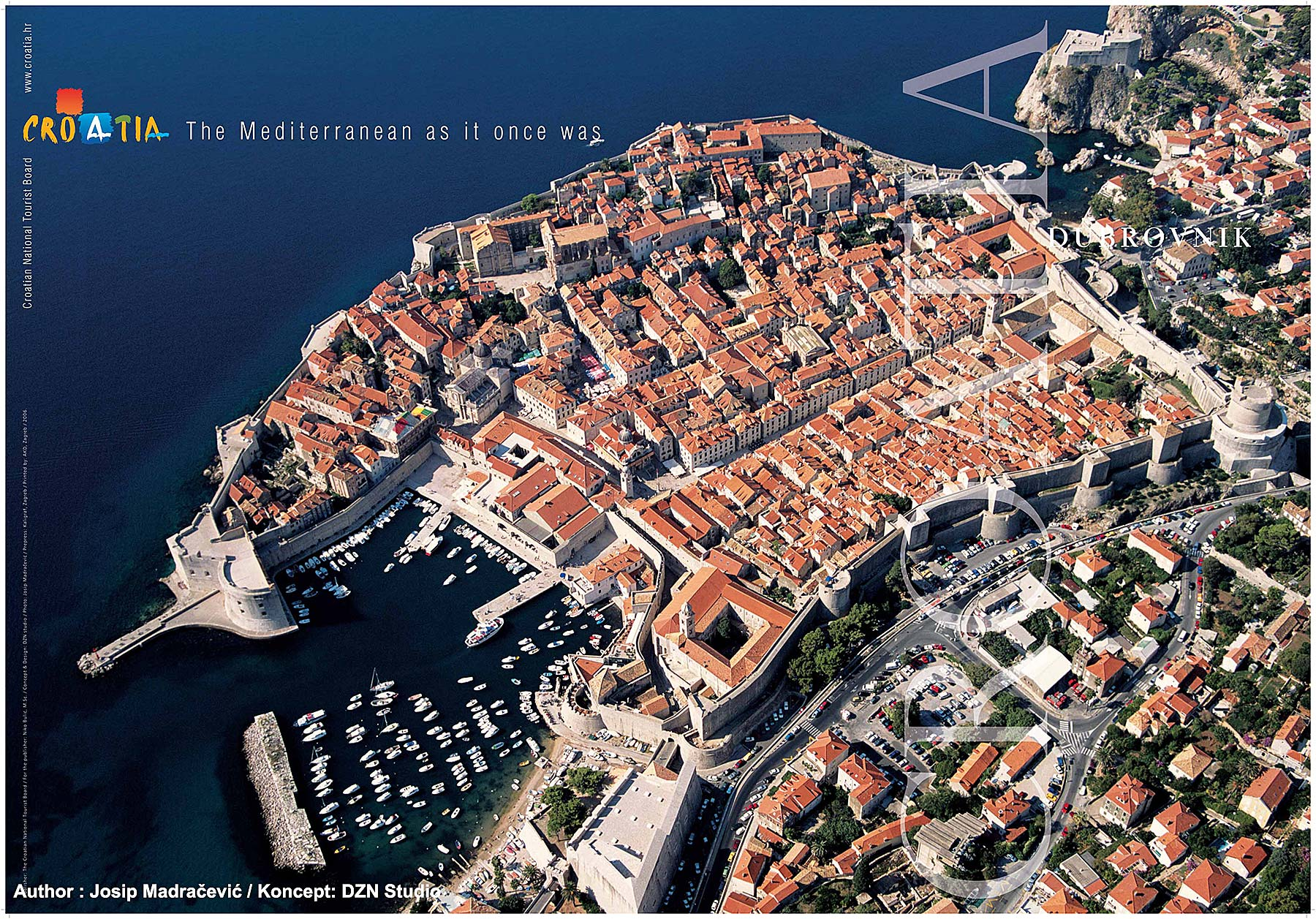 Poster : Bird Eye Views over Dubrovnik