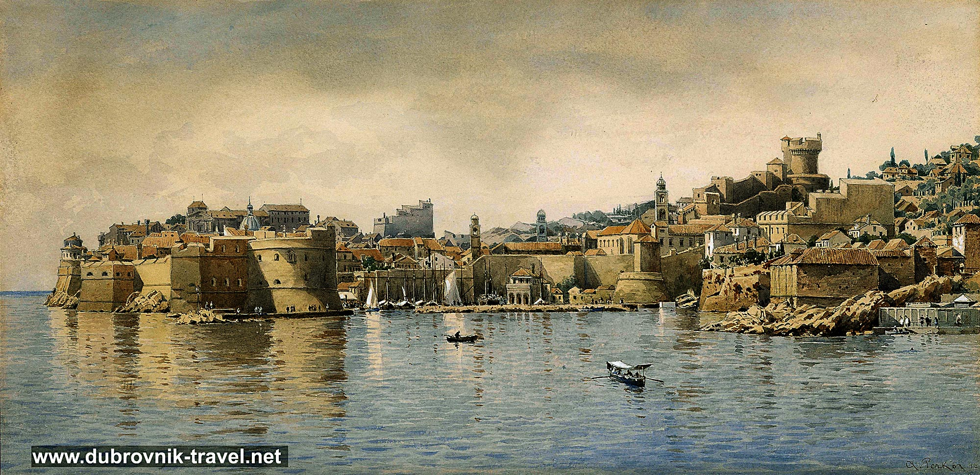 Dubrovnik Old Town Panorama (1896)