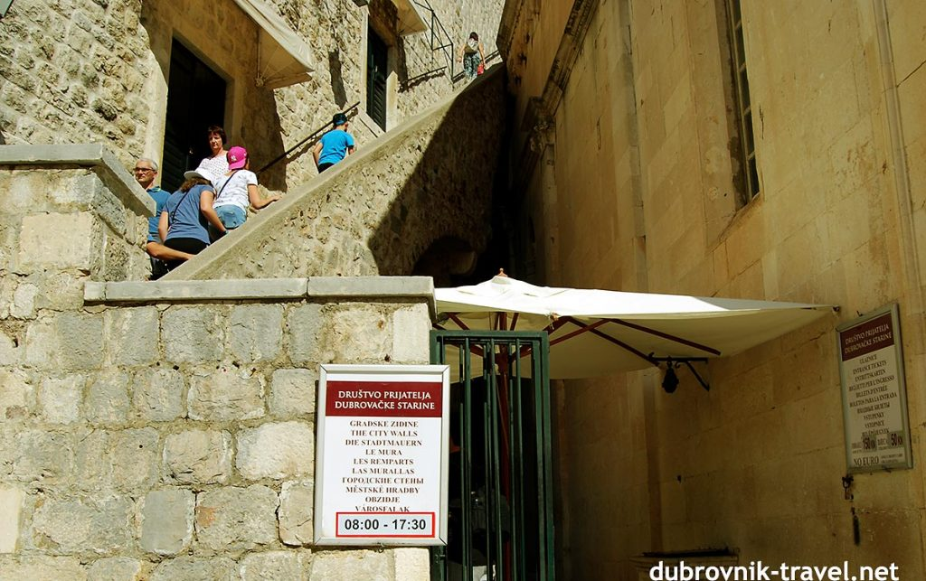 The main entrance to Dubrovnik town walls
