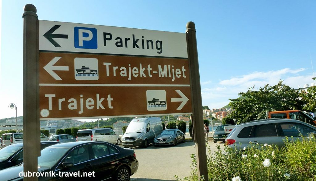 Parking in Ferry terminal for ferry to Mljet island