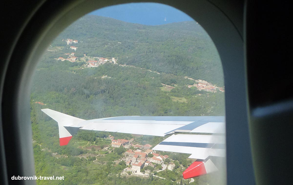 Landing at Dubrovnik Airport - lovely views of the nearby village and the sea.