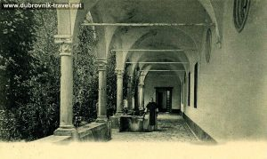 Colonnade in Benedictine Monastery Cloister, Lokrum