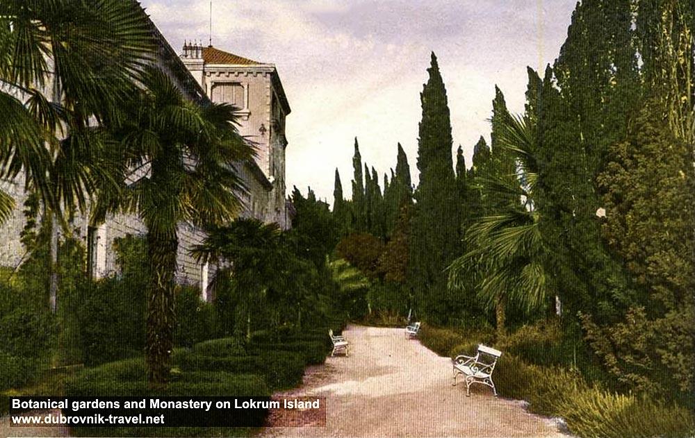 Gardens and Benedictine monastery at Lokrum
