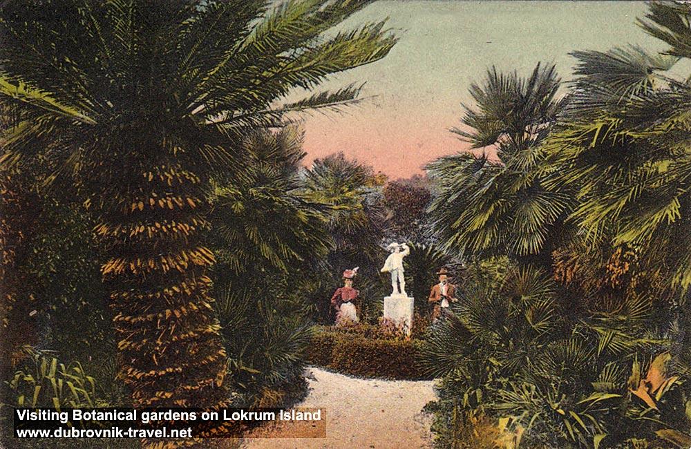 Visiting Botanical gardens at Lokrum