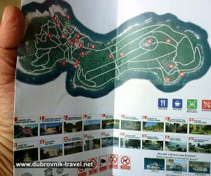 Map and points of Interest of Lokrum