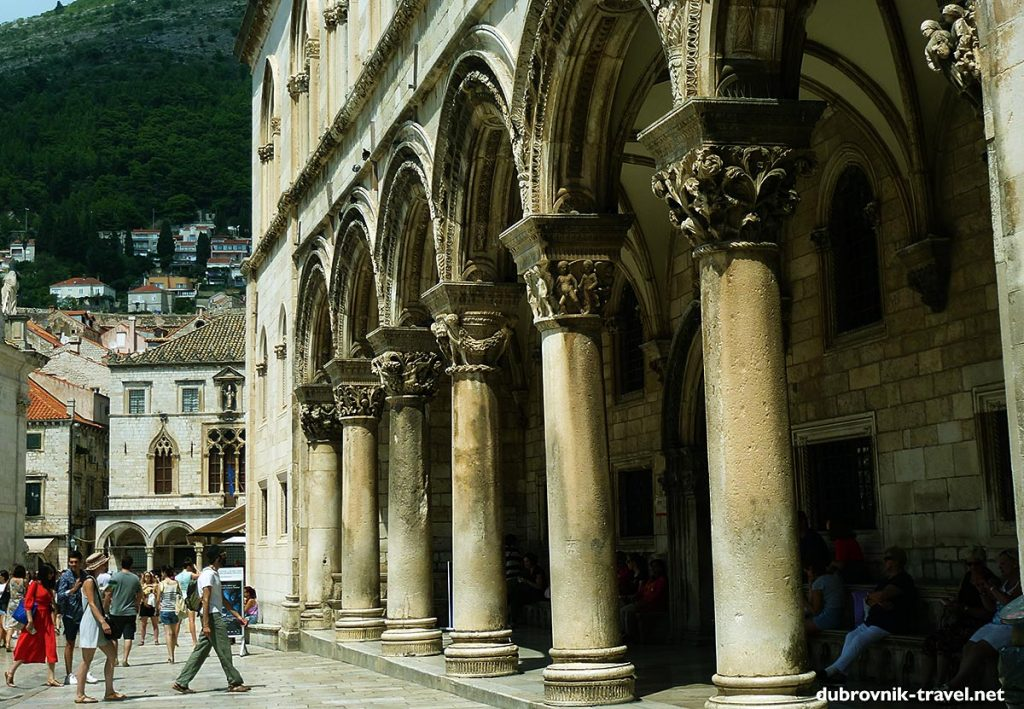 The Rector's Palace lovely colonnade