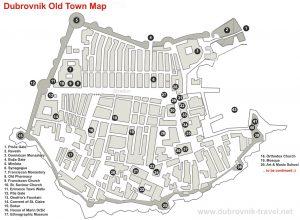 Map Of Dubrovnik Old City Dubrovnik Map