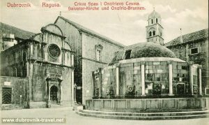 Onofrijeva Fontana and Crkva Svetog Spasa in 1910