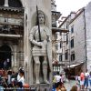 A busy day around Orlando's Column, Dubrovnik