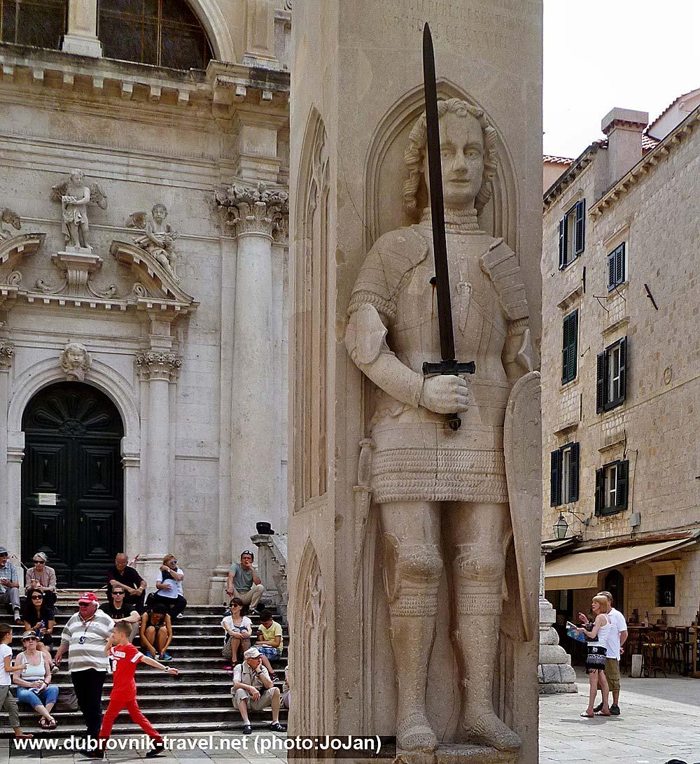 Orlando's Column and Steps of St Blaise Church – Dubrovnik