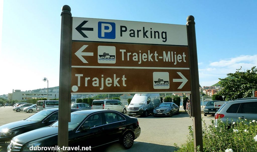 parking lot in gruz, at ferry and bus terminal, dubrovnik, croatia