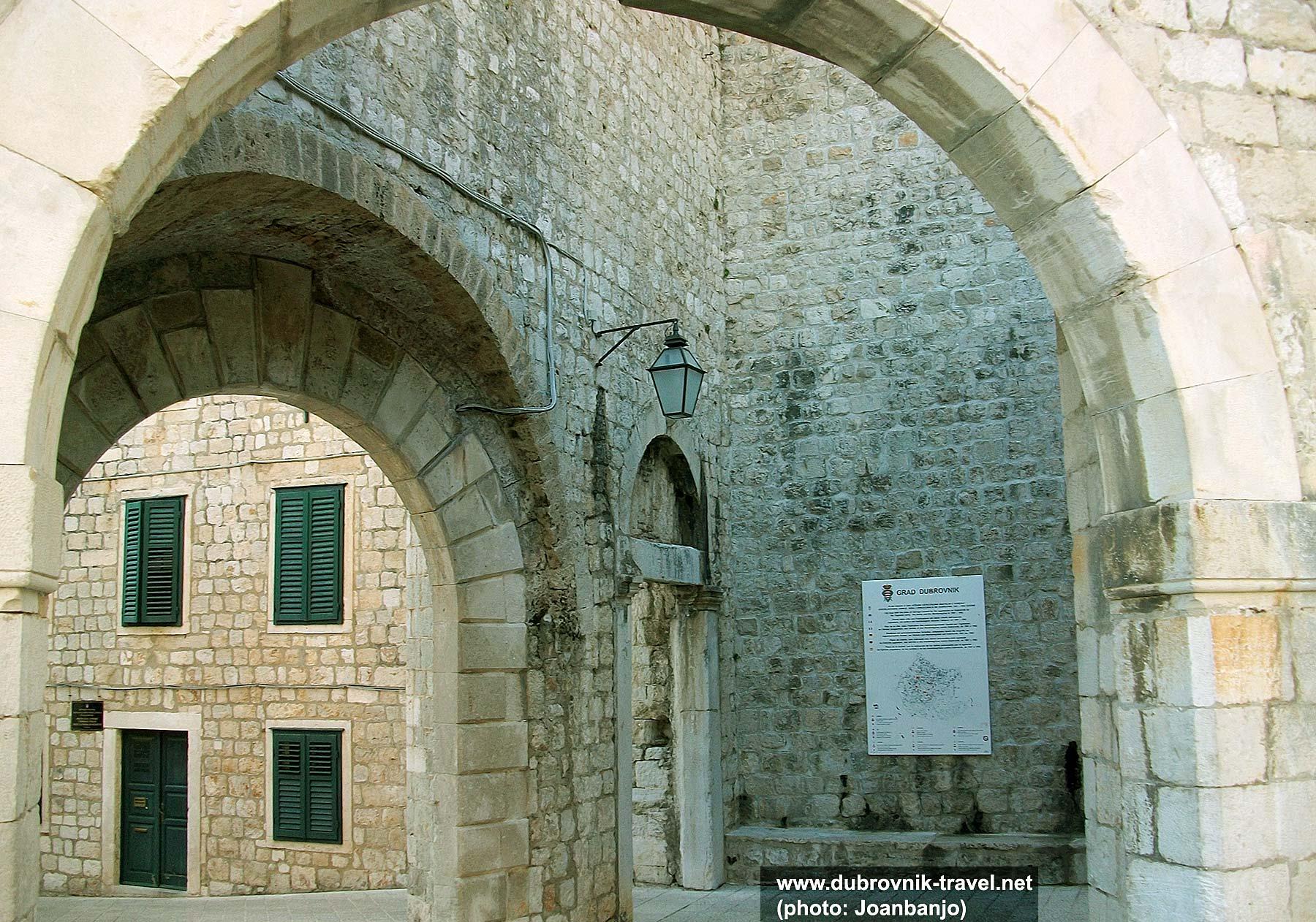 Inner section of Ploce Gate, Dubrovnik