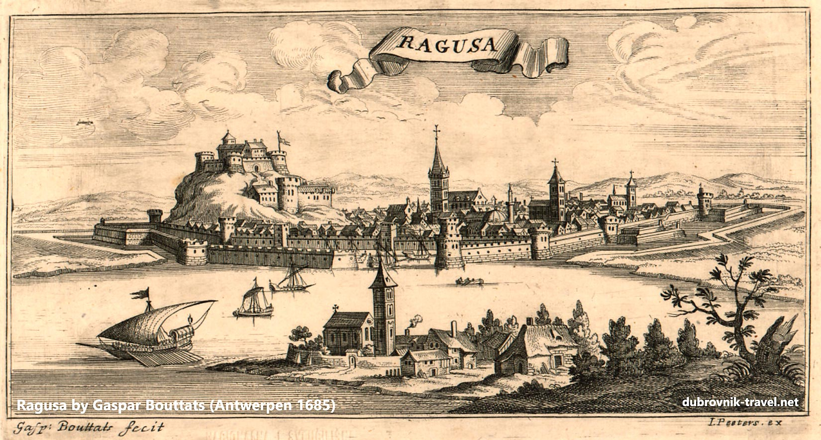 Ragusa (Dubrovnik) in 1685