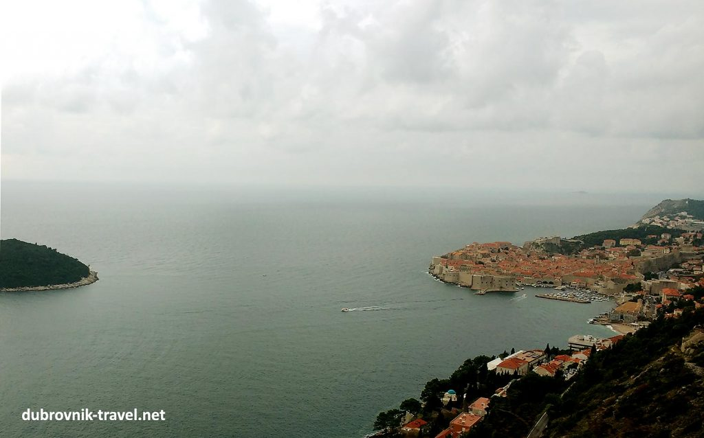 Rainy day in Dubrovnik - views