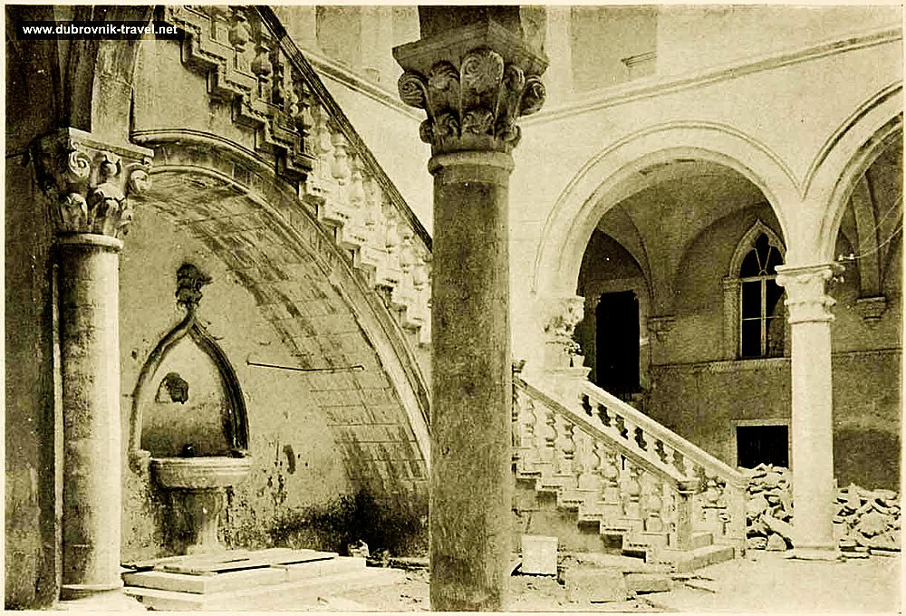 Interior Courtyard at Rectors Palace in Dubrovnik
