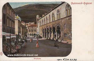 Rectors Palace street scene from 1901 - Dubrovnik