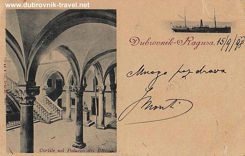 Rectors Palace on Old Postcard