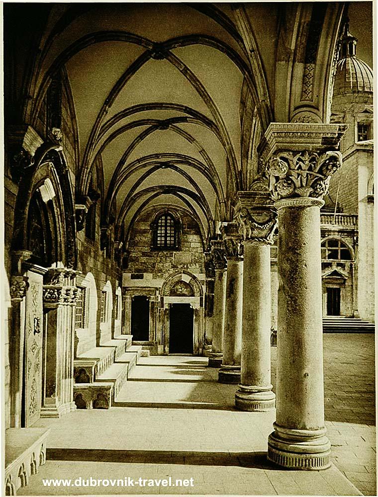 Columns of Rectors Palace, Dubrovnik - detail