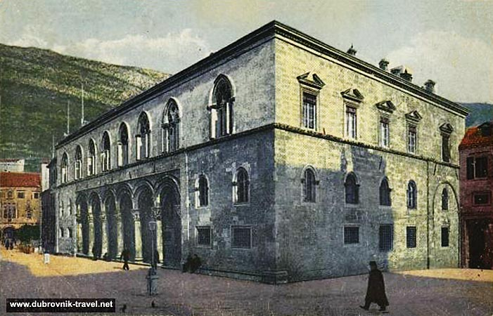 Street scene in vicinity of Rectors Palace in Dubrovnik