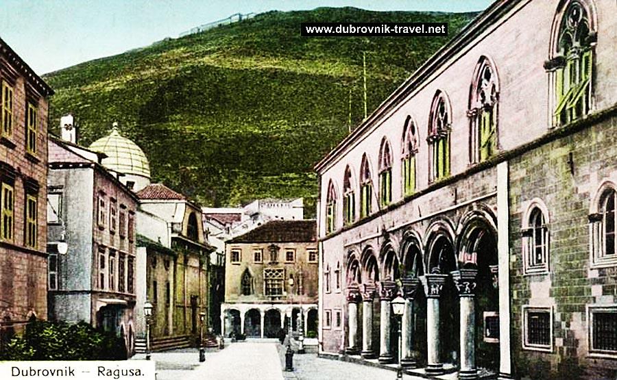 Ulica Pred Dvorom, Luza Square and Rectors Palace in Dubrovnik