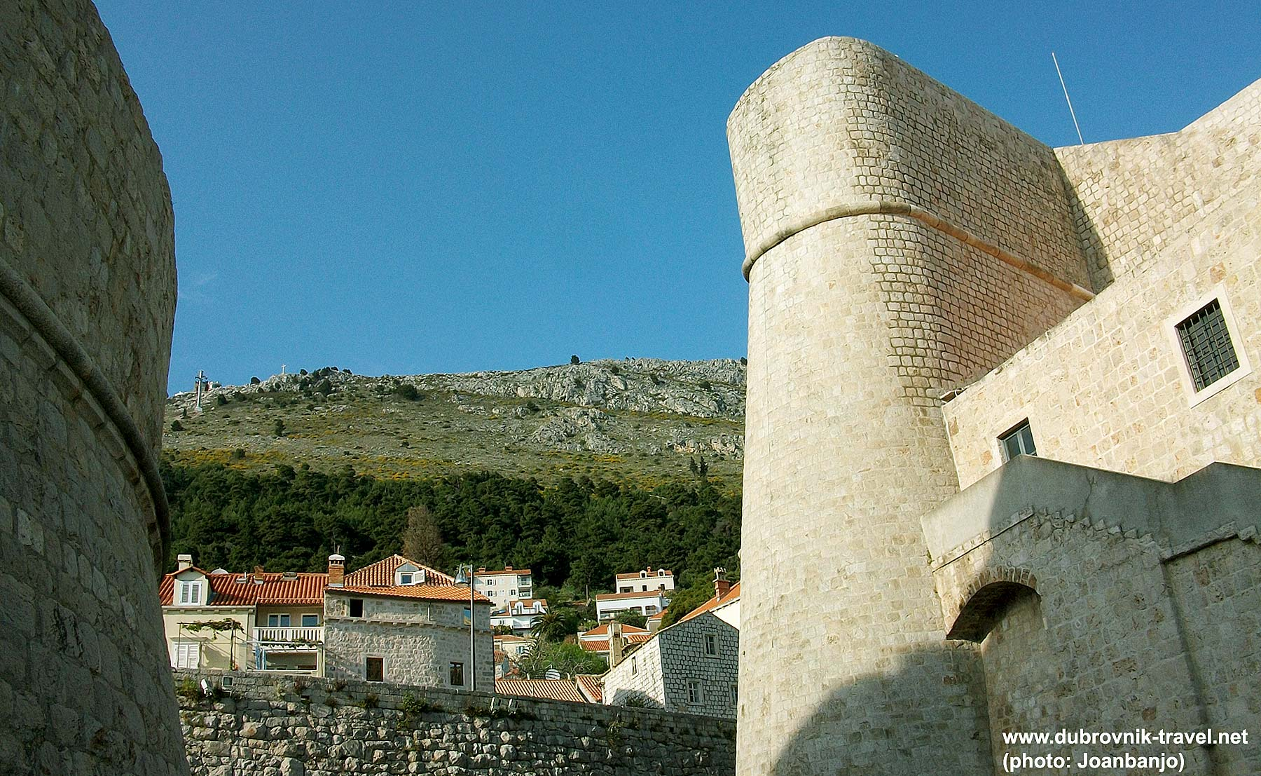 Western side of Revelin Fortress in Dubrovnik