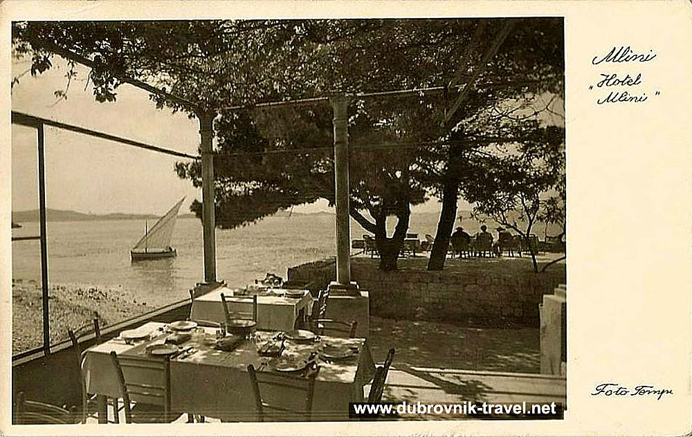 Traditional small sailing boat in Mlini near Dubrovnik (1930s)