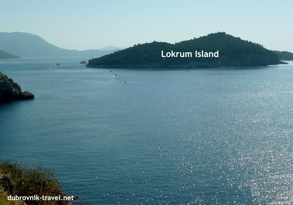 Lokrum island is just there