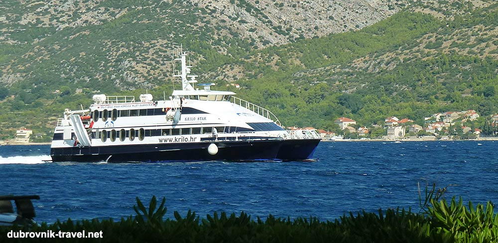 Foot Passengers fast ferry catamaran from Split to Dubrovnik