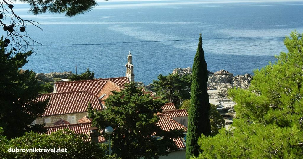 Views over the church and convent from Gradac park