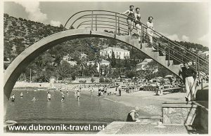 Beach Uvala Lapad in 1956