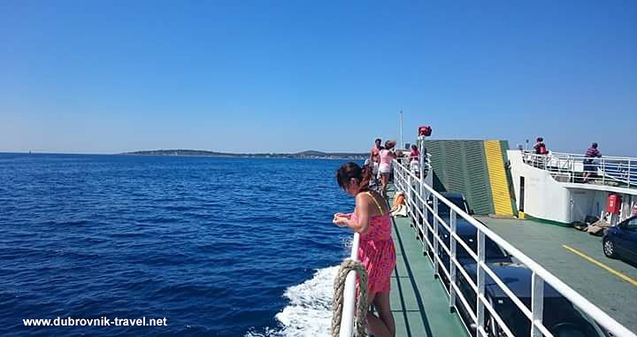 Vis island to Dubrovnik, ferry leg