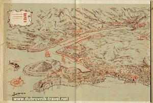 Dubrovnik Visitor Map from 1952
