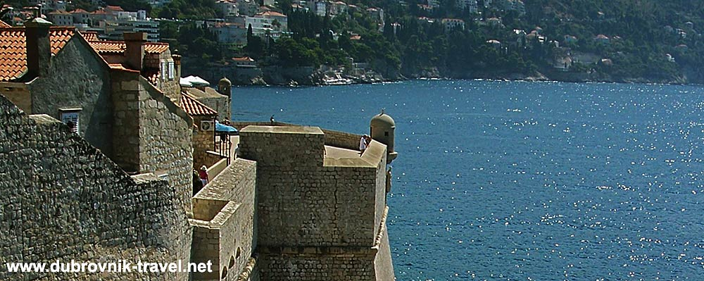 Approach to Sveti Spasitelj fortress on the south east side of Dubrovnik medieval walls