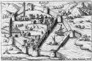 Walls of Dubrovnik (year 1610)