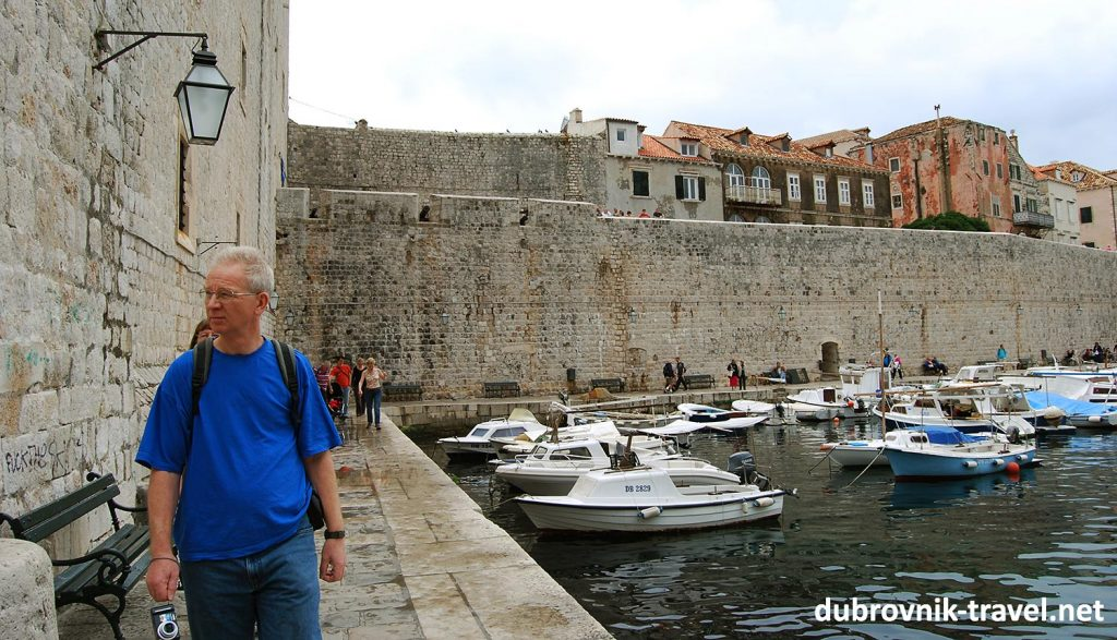 A wet and overcast day in Dubrovnik in April